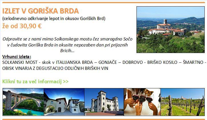 Goriska Brda Karte.Ponudniki Aktivnosti Deu Goriska Brda Tourismus Wein